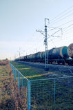 Rolling-stock with oil tanks Royalty Free Stock Image