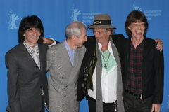 Rolling Stones. BERLIN - FEBRUARY 7: Rolling Stones singer Jagger, Keith Richards pose at the 'Shine A Light' Photocall as part of the 58th Berlinale Film