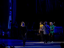 The Rolling Stones concert, Rome, Italy - June 22nd 2014. Shot of band during the Rolling Stones tour of 2014. The venue was the Circus Maximus, an ancient Roman Stock Image