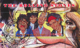 Rolling Stones. CONGO - CIRCA 2009: stamp printed by Congo, shows Rolling Stones, circa 2009 Royalty Free Stock Photos