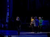 The Rolling Stones-overleg, Rome, Italië - Juni tweeëntwintigste 2014 Stock Afbeelding
