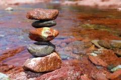 Rolling stones stacked rodeno limestone Stock Photo