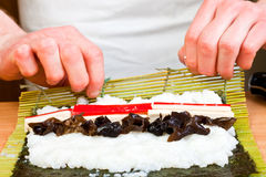 Rolling sushi Royalty Free Stock Images