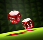 Rolling The Dice Stock Photo