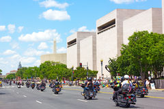 Rolling Thunder motorcycle rally for American POWs and MIA soldiers Royalty Free Stock Images