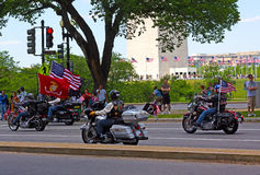 Rolling Thunder motorcycle rally Royalty Free Stock Photo