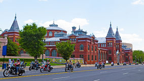 Rolling Thunder parade along Independence Ave. in National Capital, USA. Stock Images