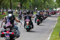 Rolling Thunder riding Stock Photos
