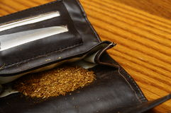 Rolling tobacco pouch Stock Photo