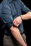 Rolling up Sleeves Royalty Free Stock Photos