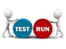 De looppas van de test royalty-vrije illustratie