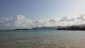 Rolling Waves at Chaweng Beach on Koh Samui Island, Thailand. Royalty Free Stock Image