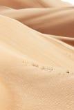 Rolling zandduinen van de Arabische woestijn Royalty-vrije Stock Afbeeldingen