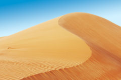 Rolling zandduinen van de Arabische woestijn Stock Fotografie