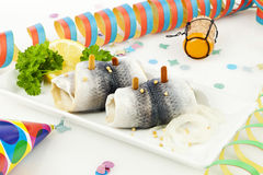 Rollmops cures hangover Stock Photo