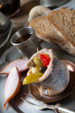 Rollmops - pickled herring fillets Royalty Free Stock Photos