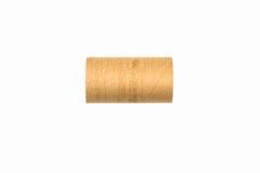 Rollo aislado vacío del papel higiénico Imagenes de archivo
