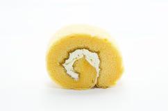 Rollo anaranjado de la torta Fotografía de archivo libre de regalías