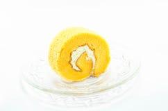 Rollo anaranjado de la torta Foto de archivo