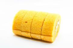 Rollo anaranjado de la torta Imagenes de archivo