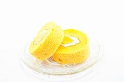 Rollo anaranjado de la torta Fotos de archivo