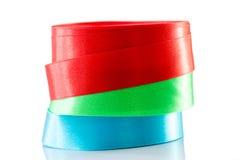 Rollo azulverde rojo de la cinta aislado Foto de archivo