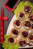 Rollo caliente de la comida japonesa Fotos de archivo