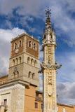 Rollo and Church of Villalon de Campos Stock Images