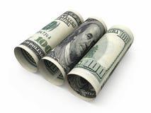 rollo de 100 billetes de banco del dólar ilustración del vector