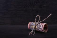 Rollo de cincuenta euros Foto de archivo libre de regalías