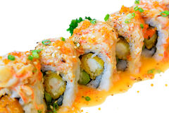Rollo de color salmón del maki del sushi Fotos de archivo