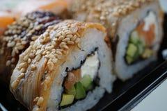 Rollo de la anguila del sushi Fotografía de archivo libre de regalías