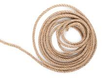 Rollo de la cuerda de la nave fotos de archivo libres de regalías