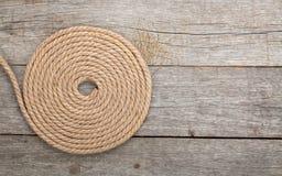 Rollo de la cuerda de la nave Imagen de archivo
