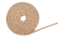 Rollo de la cuerda de la nave fotos de archivo