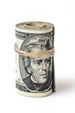 Rollo de la moneda de Estados Unidos del dinero Foto de archivo libre de regalías