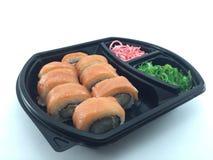 Rollo de los salmones del sushi Imágenes de archivo libres de regalías