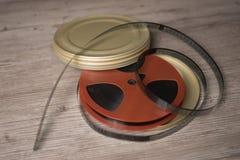 Rollo de película cinematográfico viejo Fotografía de archivo libre de regalías