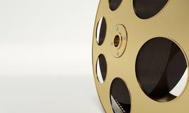 Rollo de película con una tira de la película Imagenes de archivo