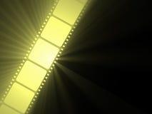 Rollo de película de la flama del sol de Filmstrip ilustración del vector