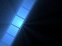 Rollo de película de la flama del sol de Filmstrip Foto de archivo libre de regalías