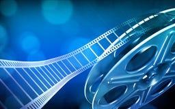 Rollo de película del cine Foto de archivo libre de regalías