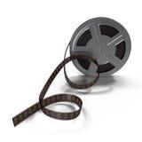 Rollo de película video en el fondo blanco Fotografía de archivo