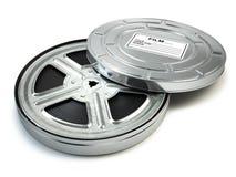 Rollo de película y caja Vídeo, película, concepto del vintage del cine libre illustration