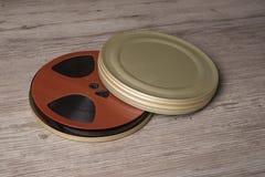 Rollo de película cinematográfico viejo Imagen de archivo libre de regalías