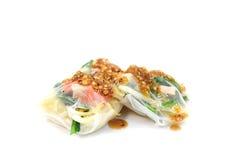 Rollo de primavera de Vietnam con la salsa Foto de archivo libre de regalías