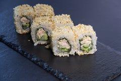 Rollo de sushi con Comida japonesa 6 Foto de archivo