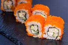 Rollo de sushi con Comida japonesa 17 Fotografía de archivo