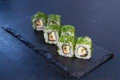 Rollo de sushi con Comida japonesa 18 Foto de archivo libre de regalías