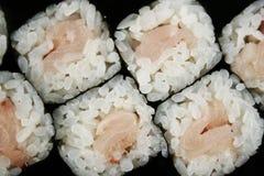 Rollo de sushi con la perca Foto de archivo